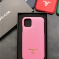 Classic Shell Prada Protective Leather Back Covers Holster Cases For iPhone 11 Pro Max - Pink