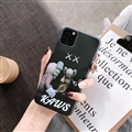 Cute Kaws Shell Matte Covers Protective Back Cases For iPhone 11 Pro Max - Black