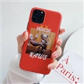 Cute Kaws Shell Matte Covers Protective Back Cases For iPhone 11 Pro Max - Red 02