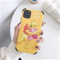 Cute Winnie the Pooh Shell Matte Covers Protective Back Cases For iPhone 11 Pro Max - Yellow