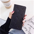 LV Monogram Housing Flip Leather Cases Cover Book Genuine Holster Shell For iPhone 11 Pro Max - Black