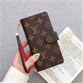 LV Monogram Strap Flip Leather Cases Cover Book Genuine Holster Shell For iPhone 11 Pro Max - Brown Red