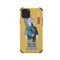 Supreme Kaws Shell Matte Covers Protective Back Cases For iPhone 11 Pro Max - Yellow