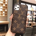 Unique Monogram Skin LV Leather Back Covers Holster Cases For iPhone 11 Pro Max - Brown