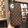Unique Monogram Skin LV Leather Back Covers Holster Cases For iPhone 11 Pro Max - Small Brown