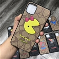 Classic Cartoon Coach Protective Leather Back Covers Holster Cases For iPhone 11 - 14