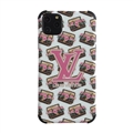 Classic LV Housing Matte Covers Protective Back Cases For iPhone 11 - Pink