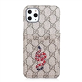 Classic Lattice Casing Gucci Leather Back Covers Holster Cases For iPhone 11 Pro - K1