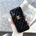 Classic Lattices Chanel Leather Hanging Rope Covers Soft Cases For iPhone 11 Pro - Black