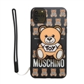 Classic Moschino Housing Matte Covers Protective Back Cases For iPhone 11 - Black