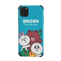 Cute Brown Shell Matte Covers Protective Back Cases For iPhone 11 - Blue