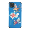 Cute Doraemon Shell Matte Covers Protective Back Cases For iPhone 11 - Blue