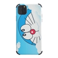 Cute Doraemon Shell Matte Covers Protective Back Cases For iPhone 11 - Lightblue