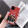 Cute Kaws Shell Matte Covers Protective Back Cases For iPhone 11 - Red
