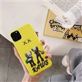 Cute Kaws Shell Matte Covers Protective Back Cases For iPhone 11 - Yellow
