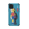 Supreme Kaws Shell Matte Covers Protective Back Cases For iPhone 11 - Blue