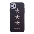 Unique Housing Givenchy Genuine Leather Back Covers Holster Cases For iPhone 11 - Black