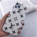 Unique Monogram Skin LV Leather Back Shell Holster Cases For iPhone 11 - White