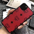 Unique Skin Casing MCM Leather Back Covers Holster Cases For iPhone 11 - Red