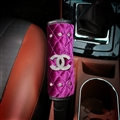 Chanel 1pcs Crystal Car Handbrake Covers Plush Diamond Brake Case Car Interior Decro - Purple