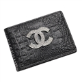 Chanel CC Diamond PU Leather Bags Womens Fashion Ladies Book Card Bags Wallets - Black 02