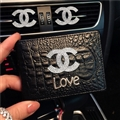 Chanel CC Diamond PU Leather Bags Womens Fashion Ladies Book Card Bags Wallets - Black Love