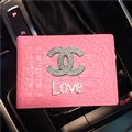 Chanel CC Diamond PU Leather Bags Womens Fashion Ladies Book Card Bags Wallets - Pink Love