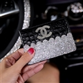 Chanel CC Diamond PU Leather Bags Womens Luxury Ladies Book Card Bags Wallets - Black 04