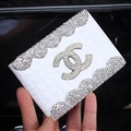 Chanel CC Diamond PU Leather Bags Womens Luxury Ladies Book Card Bags Wallets - White 03