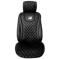 Swarovski Diamond Swan Universal Automobile Leather Car Seat Cover Cushion 1pcs Front - Black