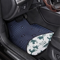 Adidas General Auto Carpet Car Floor Mats Velvet 5pcs Sets - Blue
