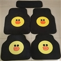 B.duck General Auto Carpet Car Floor Mats Velvet 5pcs Sets - Black