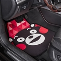 Brown Bear General Auto Carpet Car Floor Mats Velvet 5pcs Sets - Red Lettice