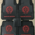 Chrome Hearts General Auto Carpet Car Floor Mats Rubber 5pcs Sets - Black Red