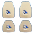 Classical Doraemon General Auto Carpet Car Floor Mats Velvet 4pcs Sets - Beige