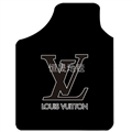 Classical LV Genenal Automotive Carpet Car Floor Mats Velvet 4pcs Sets - Black
