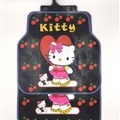 Fun Hello Kittey General Auto Carpet Car Floor Mats Rubber 5pcs Sets - Red Cherry