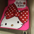 Fun Hello Kittey General Auto Carpet Car Floor Mats Rubber 5pcs Sets - Red Pink