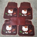 Fun Hello Kittey General Auto Carpet Car Floor Mats Rubber 5pcs Sets - Red Spot