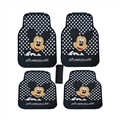 Mickey Mouse General Auto Carpet Car Floor Mats Rubber 5pcs Sets - Black Spot