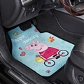 Peppa Pig General Auto Carpet Car Floor Mats Velvet 5pcs Sets - Blue