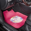 Peppa Pig General Auto Carpet Car Floor Mats Velvet 5pcs Sets - Pink