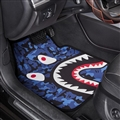 Shark  General Auto Carpet Car Floor Mats Velvet 5pcs Sets - Blue