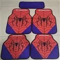 Spiderman General Auto Carpet Car Floor Mats Velvet 5pcs Sets - Red Purple