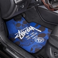 Stussy General Auto Carpet Car Floor Mats Velvet 5pcs Sets - Blue