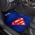 Superman General Auto Carpet Car Floor Mats Velvet 5pcs Sets - Blue