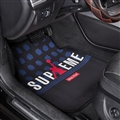 Supreme General Auto Carpet Car Floor Mats Velvet 5pcs Sets - Black