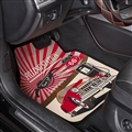 Vintage Style General Auto Carpet Car Floor Mats Velvet 5pcs Sets - Red