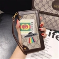 Gucci Lattice Strap Flip Leather Cases Chain Book Hat Holster Cover For iPhone 12 Pro - Brown