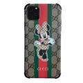 Classic Disney Casing Gucci Leather Back Covers Holster Cases For iPhone 12 Pro Max- Minnie